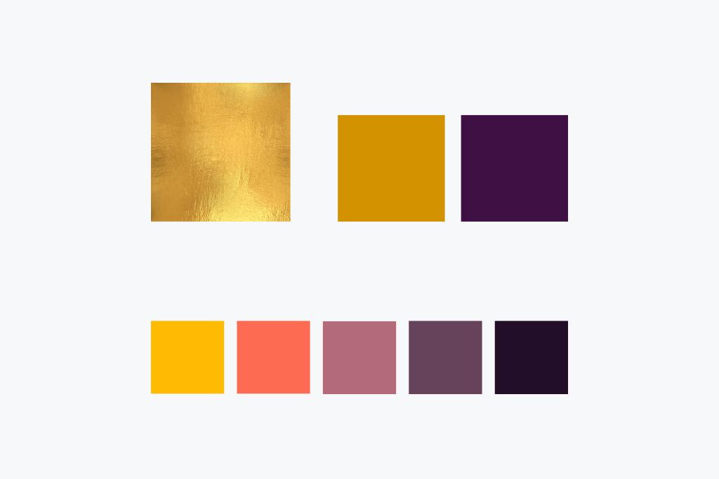 Paleta de colores. Branding que conecta culturas.