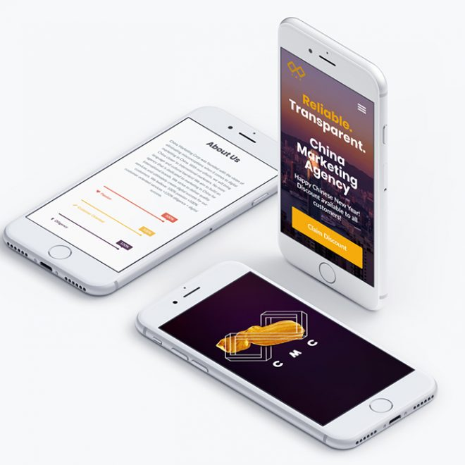 branding web application mobile responsive.
