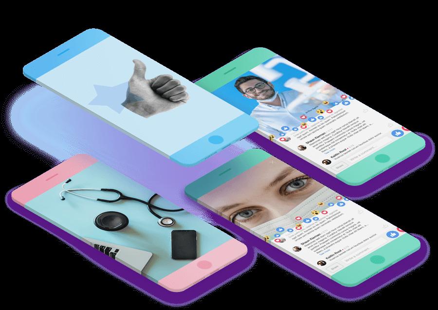 background redes sociales para clinicas versión móvil