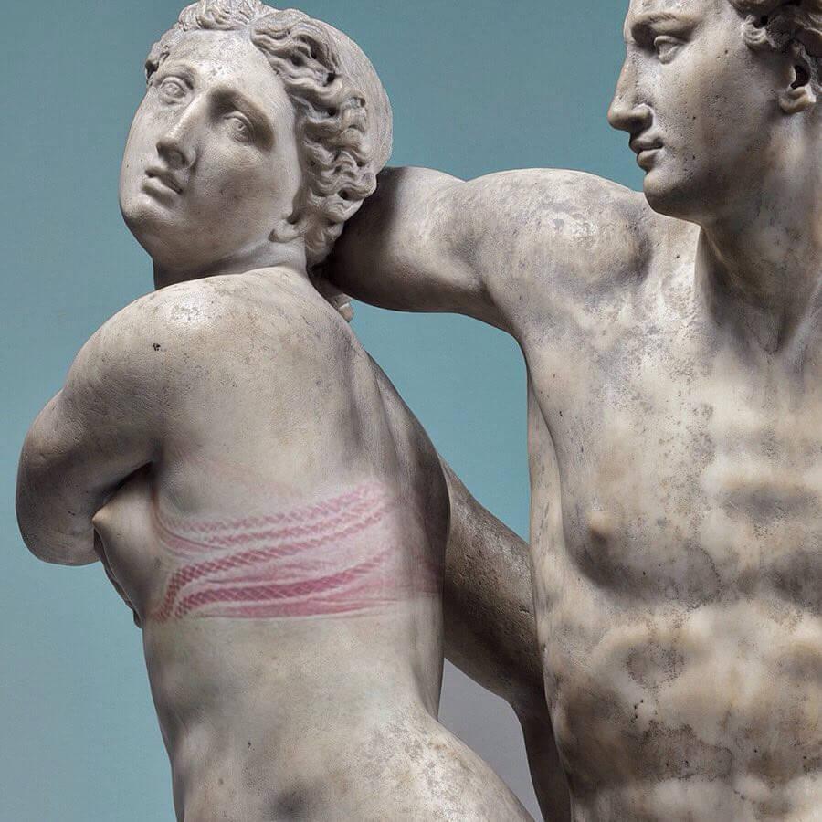 arte clásico escultura retoque photoshop