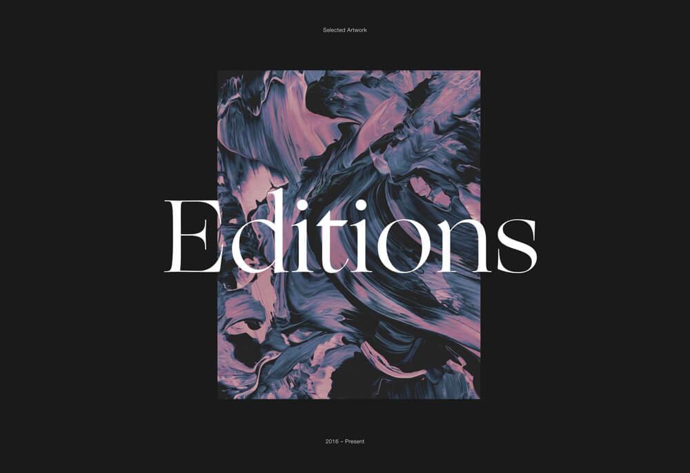 Ejemplo tendencias diseño web 2019. Fonts XXL